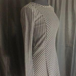 Michael Kors Gray Stripped Dress